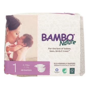 Bambo Nature Eco-Friendly Diapers  - Case of 6 - 28 CT