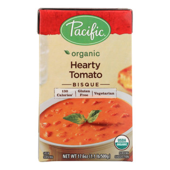 Pacific Foods Bisque Hearty Tomato Organic  - Case of 6 - 17.6 OZ