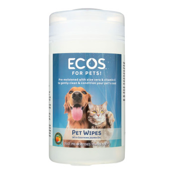 Ecos For Pets! Pet Wipes - Case of 6 - 70 CT