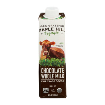 Maple Hill Creamery - Milk Shlf Stbl Chocolate - Case of 12 - 8 FZ