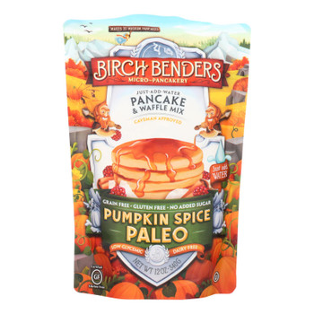 Birch Benders Micro Pancakery Pumpkin Spice Pancake & Waffle Mix  - Case of 6 - 12 OZ