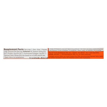 Bulletproof - Cllgn Protein Unflvrd Go Pack - Case of 15 - 0.46 OZ