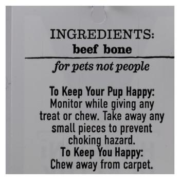 Happy N Healthy Pet - Dog Bone Beef Rib - Case of 12 - 1 CT