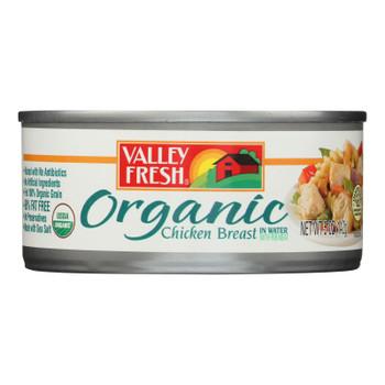 Valley Fresh Organic Chicken In Water  - Case of 12 - 5 OZ
