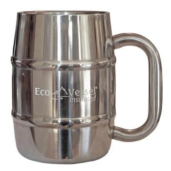 Ecovessel - Mug Double Barrel Slvr/gray - Case of 6 - 16 OZ