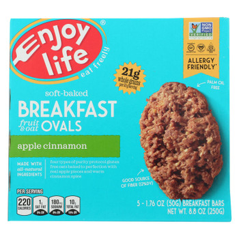 Enjoy Life - - Bar Breakfast Aple Cinnamon - Case of 6 - 8.8 OZ
