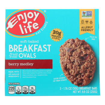 Enjoy Life - Bar Breakfast Berry Medley - Case of 6 - 8.8 OZ