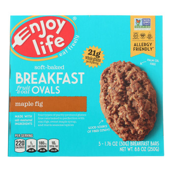 Enjoy Life - Bar Breakfast Maple Fig - Case of 6 - 8.8 OZ