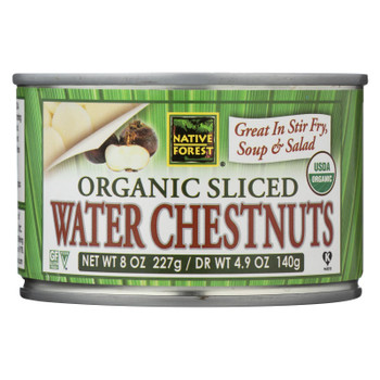 Native Forest Organic Sliced Water Chestnuts - Case of 6 - 8 OZ