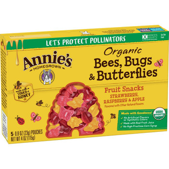 Annie's Homegrown - Fruit Snack Trpl Berry Bug - Case of 10 - 4 OZ