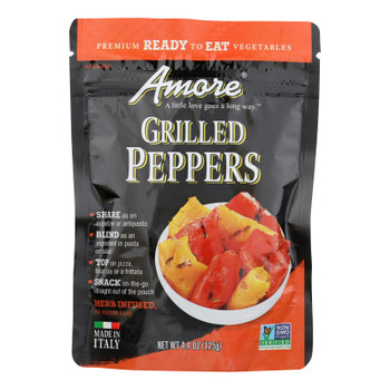 Amore Grilled Peppers - Case of 10 - 4.4 OZ
