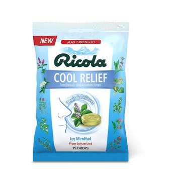 Ricola - Cough Drop Cool Relief Sugar Free - Case of 12 - 19 CT