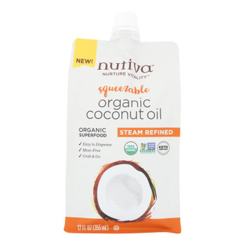 Nutiva - Coconut Oil Refined - Case of 4 - 12 OZ