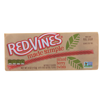 Natural Vines - Licorice Berry Twists - Case of 9 - 4 OZ