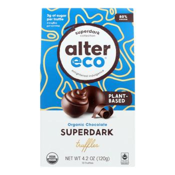 Alter Eco - Truffle Spr Dark Chocolate - Case of 8 - 4.2 OZ