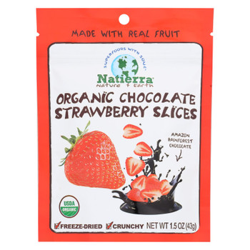 Natierra Organic Chocolate Strawberry Slices - Case of 12 - 1.5 OZ