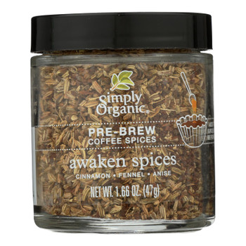 Simply Organic - Coffee Spice Awakn Prebrw - Case of 6 - 1.66 OZ