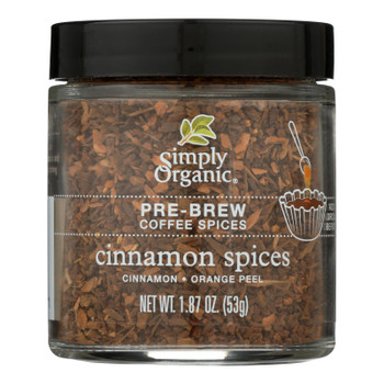 Simply Organic - Coffee Spice Cinnamon Prebrw - Case of 6 - 1.87 OZ