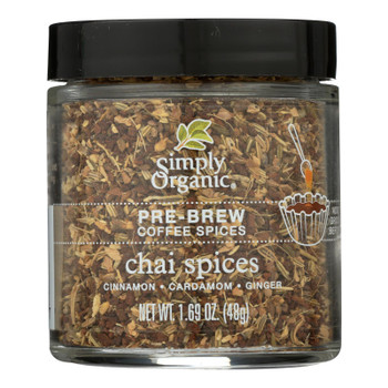Simply Organic - Coffee Spice Chai Prebrw - Case of 6 - 1.69 OZ