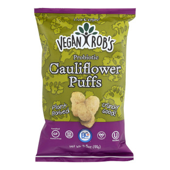 Vegan Rob's Probiotic Cauliflower Puffs - Case of 12 - 3.5 OZ