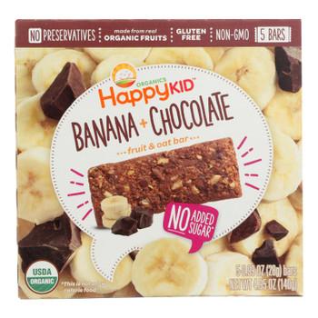Happy Kid Fruit & Oat Bar Banana & Chocolate  - Case of 6 - 5/.99 OZ