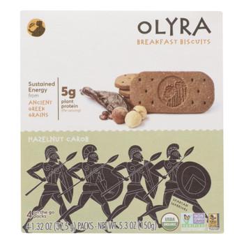 Olyra - Biscuit Hzlenut Carob - Case of 6 - 5.3 OZ