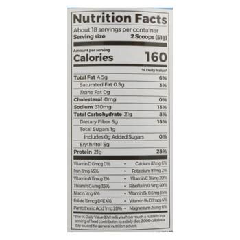 Orgain - Protein Powder Plnt Vanilla - 1 Each - 2.02 LB