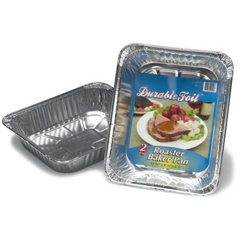 Durable Foil - Alum Pan Roaster Baker - Case of 12 - 2 CT