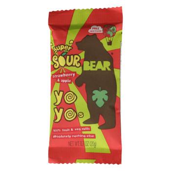 Bear - Real Fruit Yoyo Straw Apple - Case of 6 - 3.5 OZ