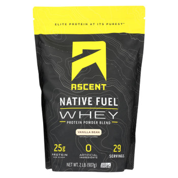 Ascent Native Fuel Vanilla Bean Whey Protein Powder Blend Vanilla Bean - 1 Each - 2 LB