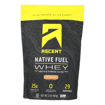 Ascent Native Fuel - Whey Cappuccino - 1 Each - 2 LB