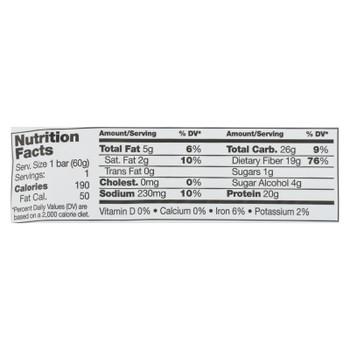 No Cow Bar Protein Bar - Case of 12 - 2.12 OZ