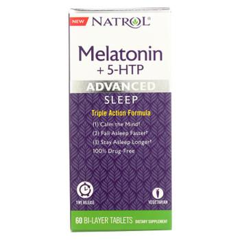 Natrol - Melatonin Advance +5 Htp - 1 Each - 60 TAB