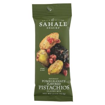 Sahale Glazed Mix With Pomegranate Flavored Pistachios  - Case of 9 - 1.5 OZ