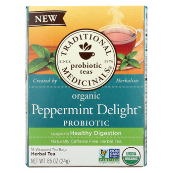 Traditional Medicinals - Probtc Tea Pprmnt Del - Case of 6 - 16 BAG