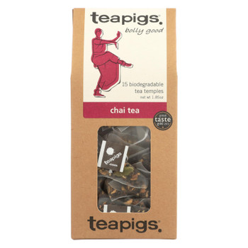 Teapigs Chai Bolly Good Tea With Cinnamon Ginger And Vanilla - Case of 6 - 15 CT