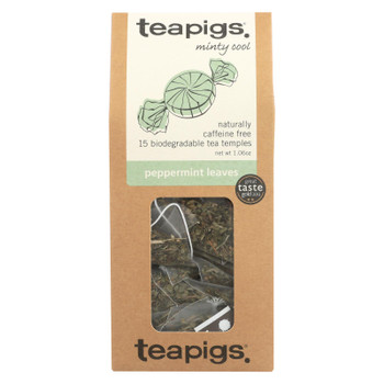 Teapigs Peppermint Leaves Minty Cool Tea  - Case of 6 - 15 CT
