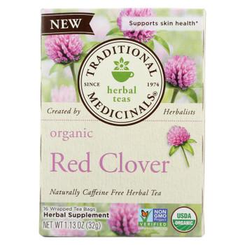 Traditional Medicinals - Herb Tea Red Clover - Case of 6 - 16 BAG