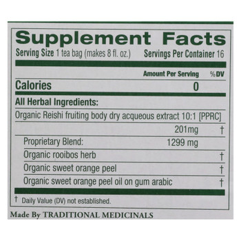 Traditional Medicinals - Tea Herbal Reishi - Case of 6 - 16 BAG