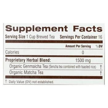 Traditional Medicinals - Green Tea Mtcha W/rce - Case of 6 - 16 BAG