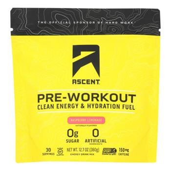 Ascent Native Fuel - Preworkout Raspberry Lemonade - 1 Each - 12.7 OZ