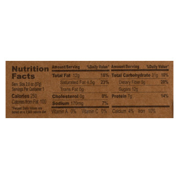 Gluten Free Bar Coconut Cashew Breakfast Oatmeal  - Case of 6 - 2 OZ