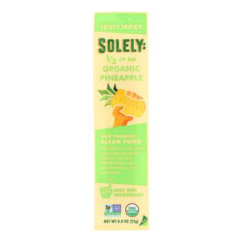Solely Fruit - Fruit Jerky Pineapple - Case of 12 - .8 OZ