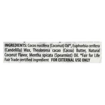 Alaffia Coconut Mint Lip Balm  - Case of 24 - .15 OZ
