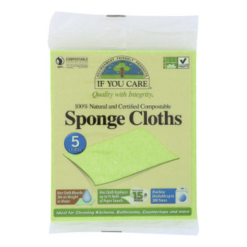 If You Care Sponge Cloth  - 1 Each - 5 CT