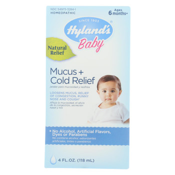 Hyland's Baby Mucous And Cold Relief Homeopathic Medicine  - 1 Each - 4 OZ