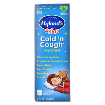 Hylands Homeopathic - 4kids Night Cold N Cough - 1 Each - 4 FZ