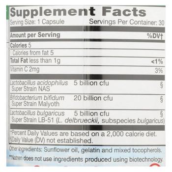 Natren Healthy Trinity Probiotic Capsules  - 1 Each - 30 CAP