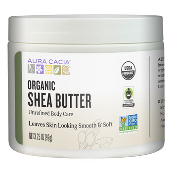 Aura Cacia - Body Butter Shea Unrf - 1 Each - 3.25 FZ