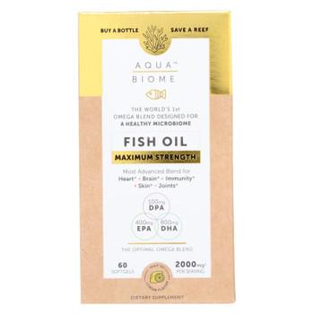 Aqua Biome - Fish Oil Maximum Strength - 1 Each - 60 CT
